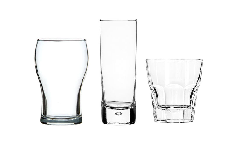 Washington Glass,   Centra High Ball Glass  &  Libbey Tumblers