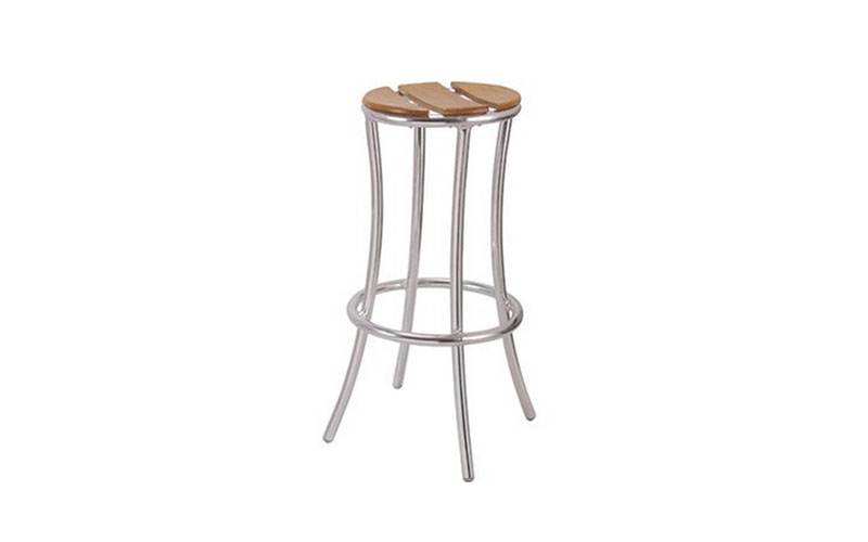 Wooden Slated Bar Stool