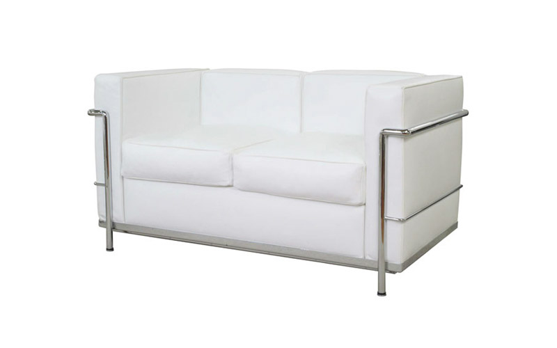White two seater lounge