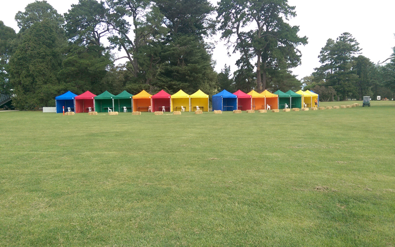 Coloured Marquees